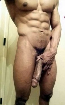 Sexy selfie with muscled guy with..