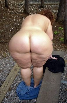 Granny Chubby Big Round Ass -..