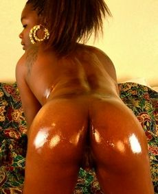 Oiled Black Booty. Horny naked..