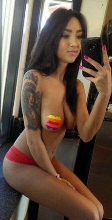 Hot pussy selfshot photo with a..