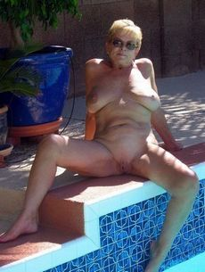 Sexy and horny old granny in the..
