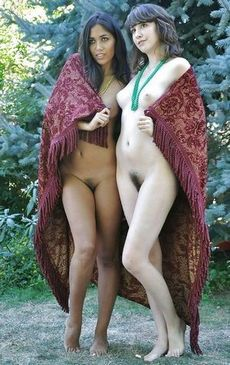 Hot babes with a bush.