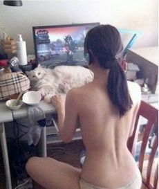 asian Playing World of Warcraft..
